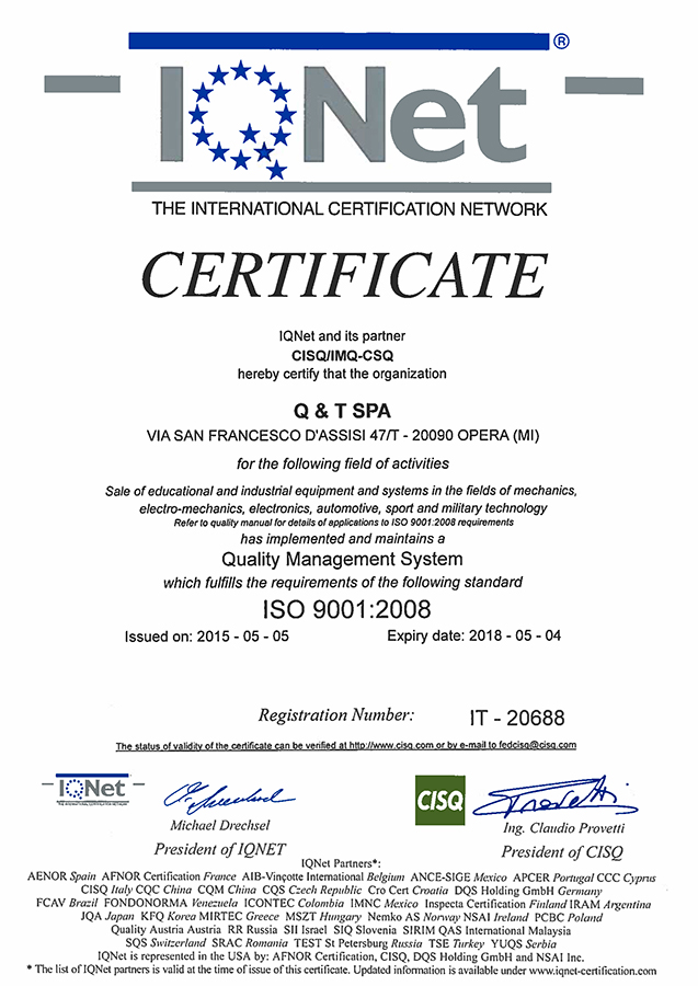 IQNet – ISO 9001:2008